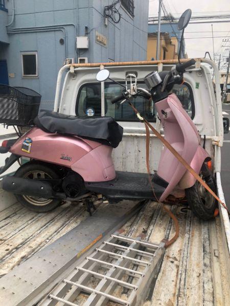 放置原付バイク無料回収 青葉区