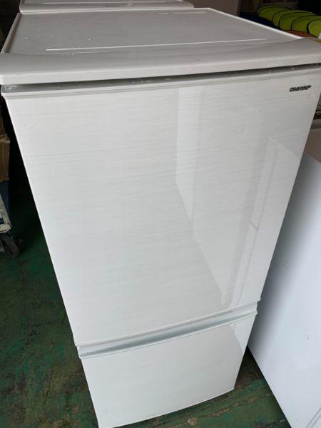 SHARP シャープ 2ドア冷蔵庫 SJ-D14D-W